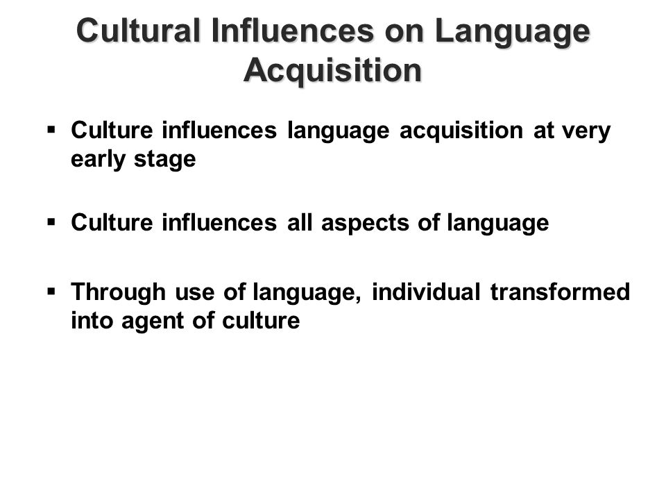 the major influence of culture in communication Communication professionals need to be aware of the ways cultural differences influence communication this article describes the influence of cultural backgrounds on communication patterns along a continuum of behaviors.