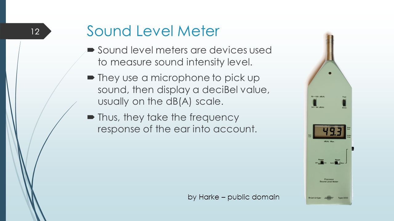 Sound Frequency Meter : Sound intensity level learning outcomes ppt video