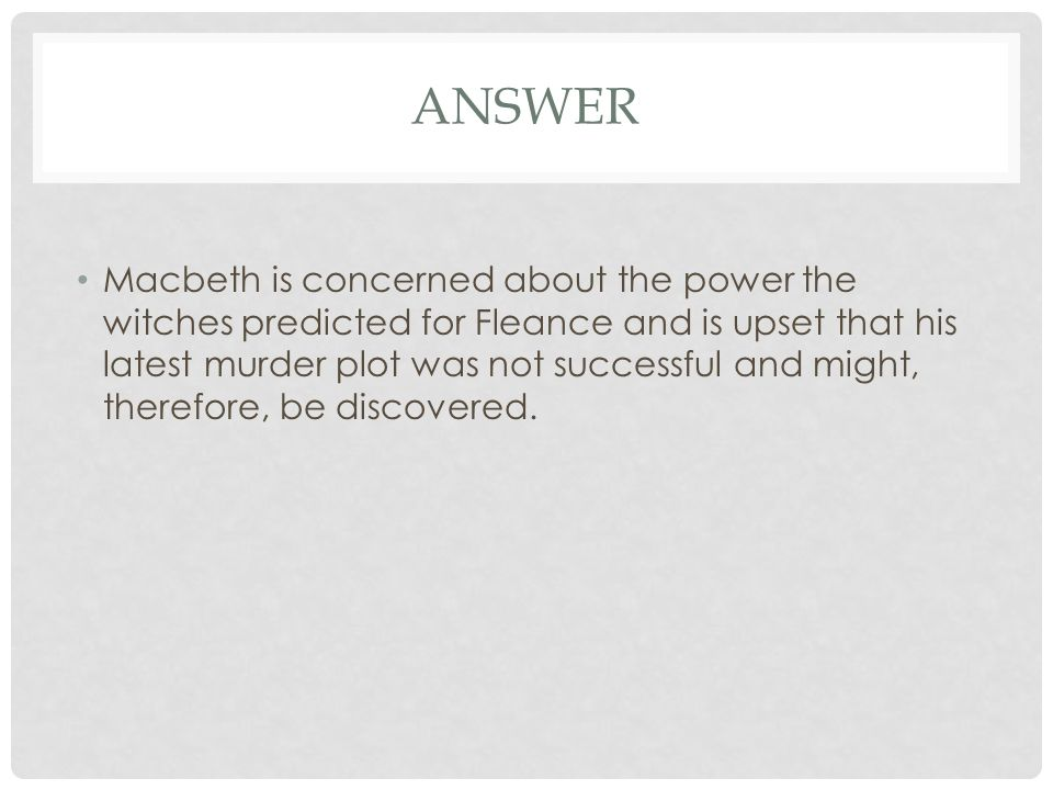 Macbeth Text Response Paper