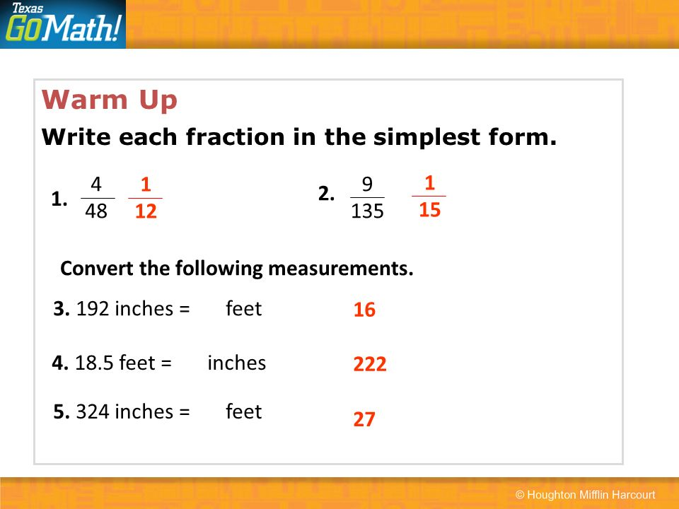 write each fraction in simplest form