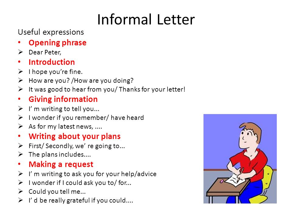 Writing exam writing tasks ppt video online download 13 informal letter spiritdancerdesigns Images
