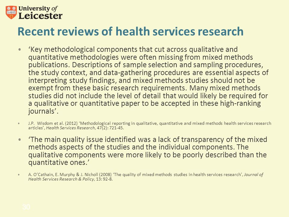 Health Services Insights