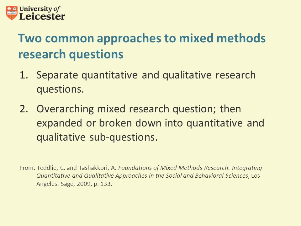 school of management mixed methods research  how to