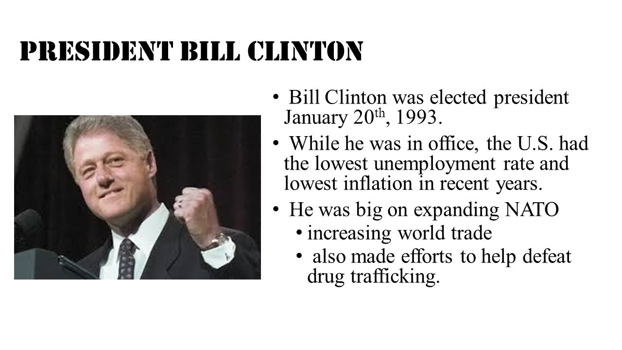The monica lewinsky bill clinton scandal ppt video online download - Bill clinton years in office ...