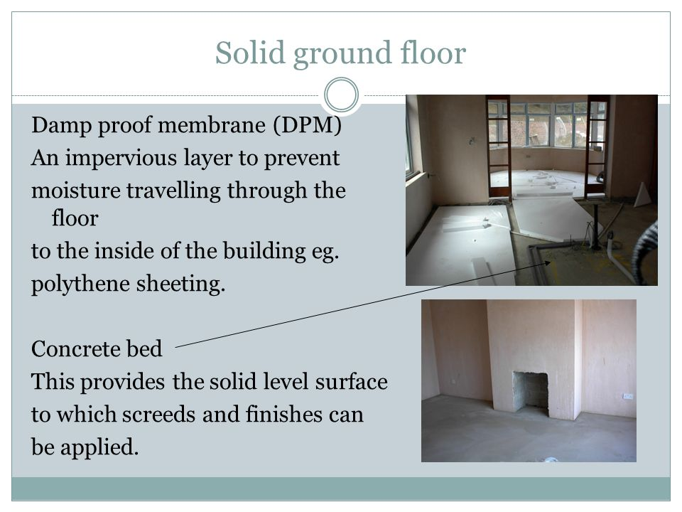 Solid ground floor