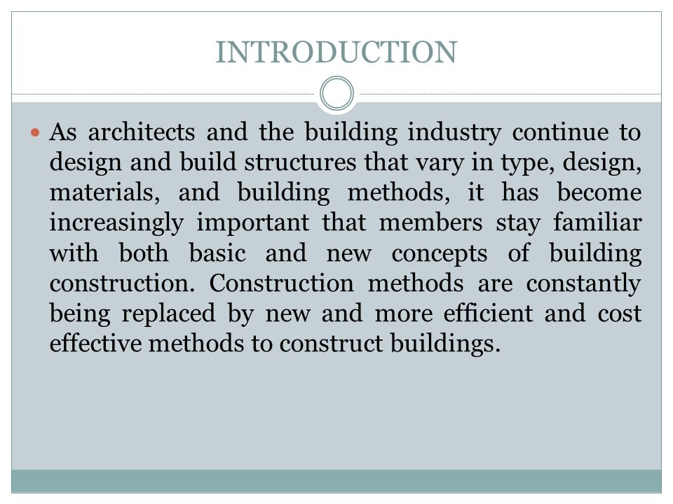 Building construction ppt download for Cost effective building design
