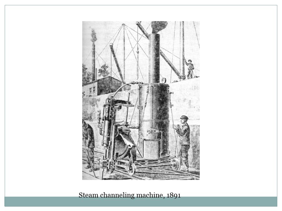 Steam channeling machine, 1891