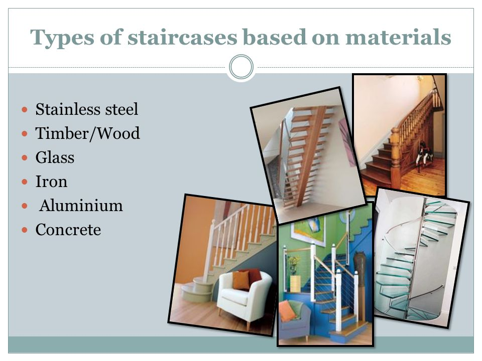 Types of staircases based on materials