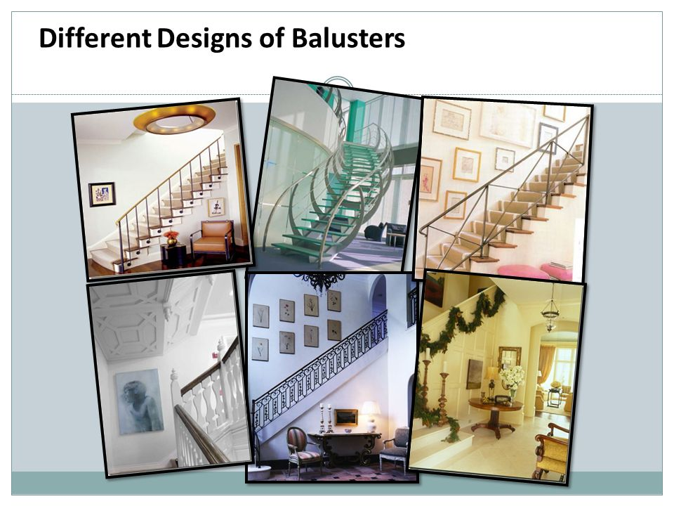 Different Designs of Balusters