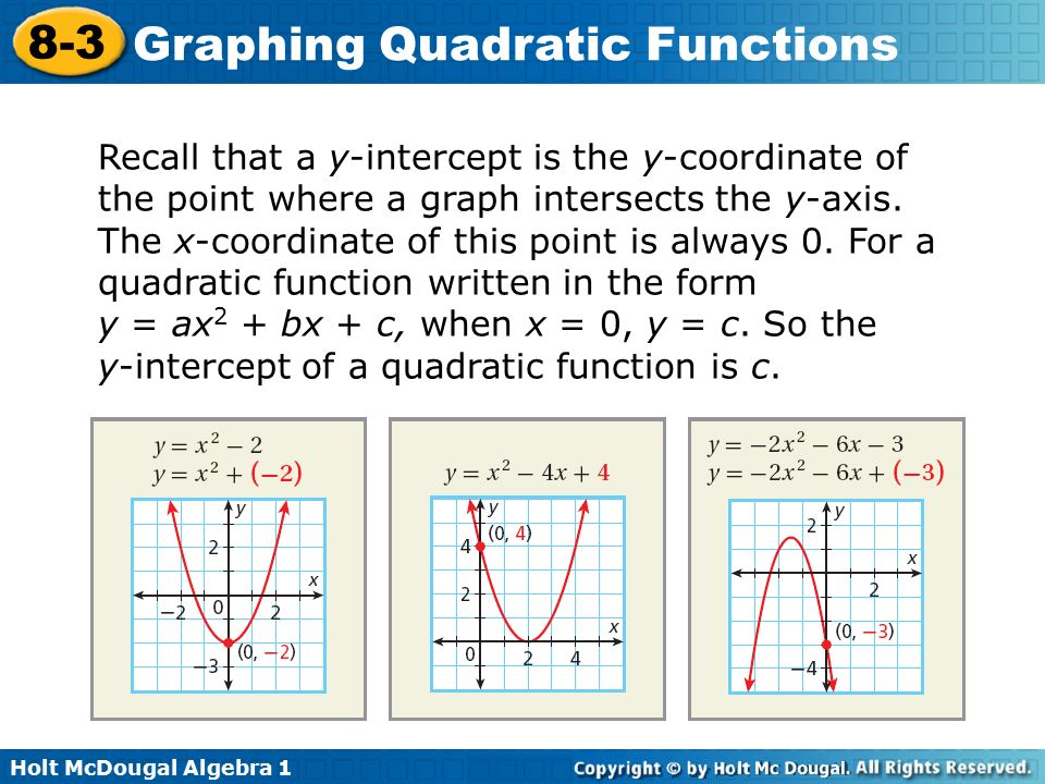 Warm Up x 0 x 1 2 1 0 2 Find the axis of symmetry – Algebra 2 Graphing Quadratic Functions Worksheet