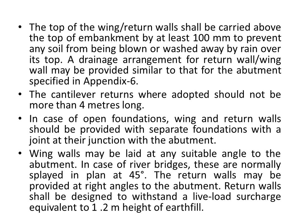 Wall Abutment Return Related Keywords & Suggestions - Wall