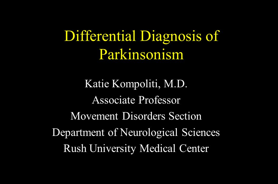 Differential Diagnosis of Parkinsonism