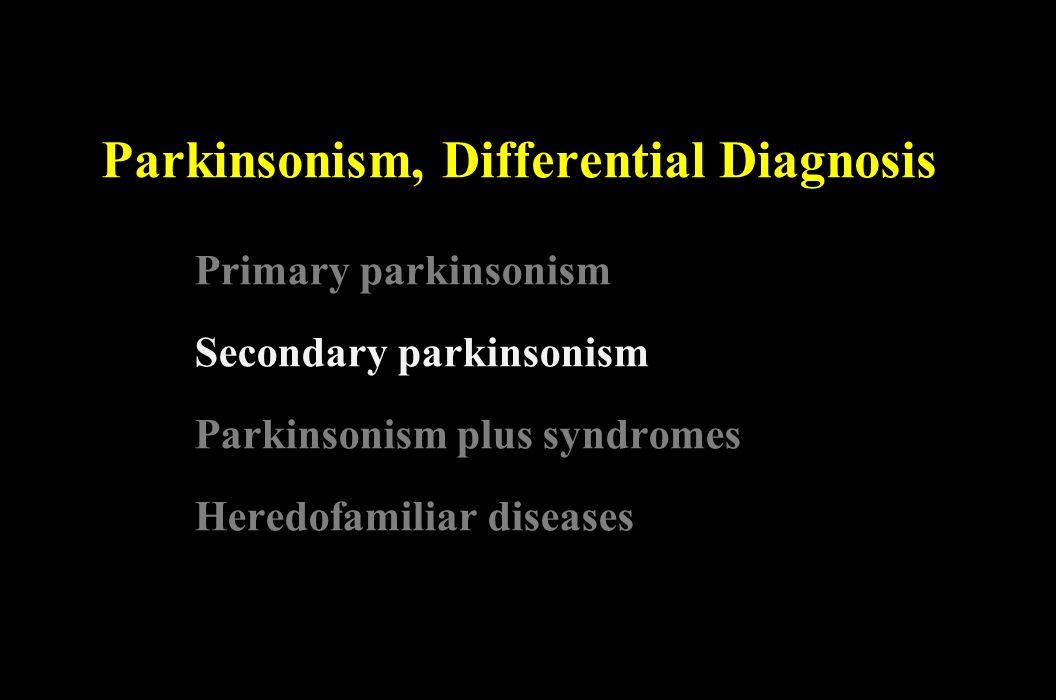 Parkinsonism, Differential Diagnosis