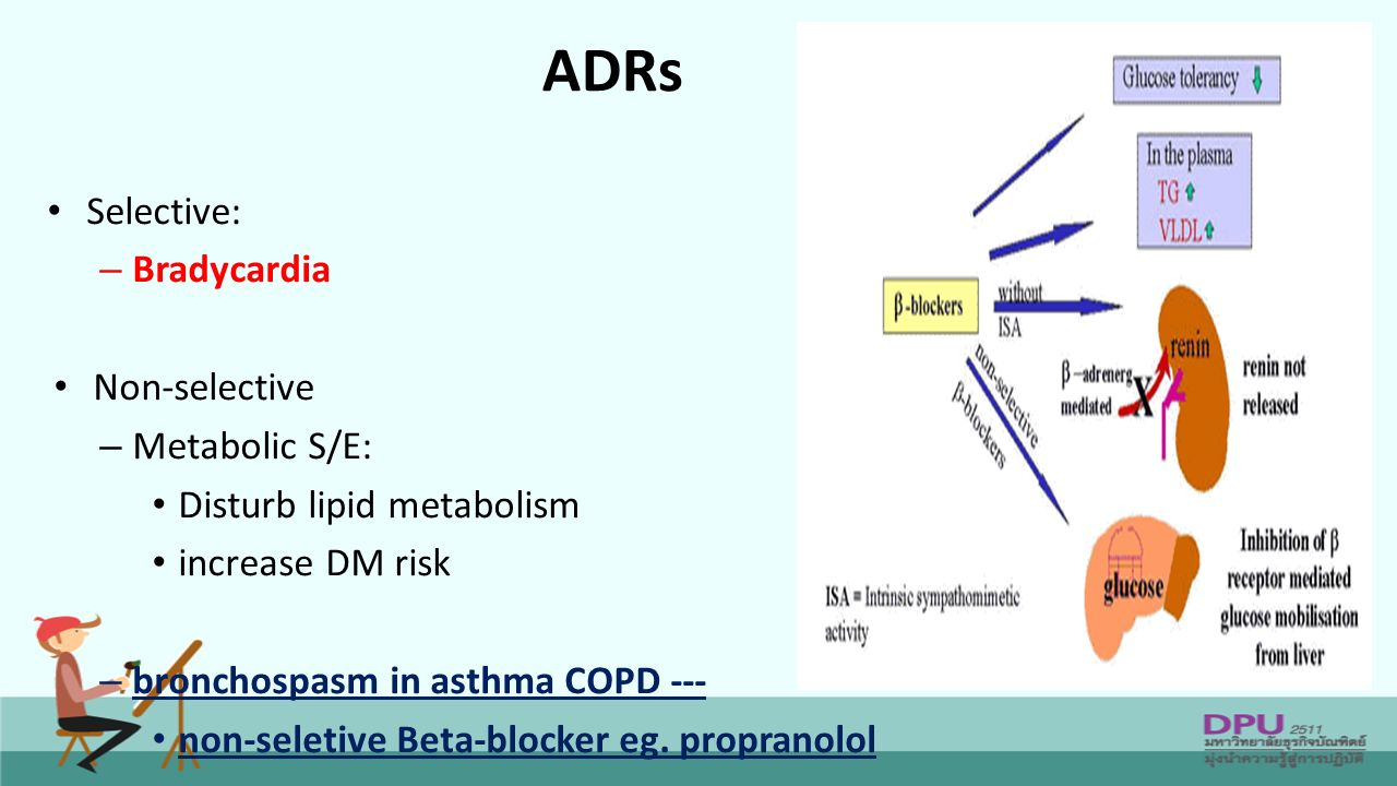 propranolol the beta blocker Specifies the medication propranolol (inderal, inderal la, innopran xl)  propranolol is a beta-adrenergic examples of other beta-adrenergic blockers.