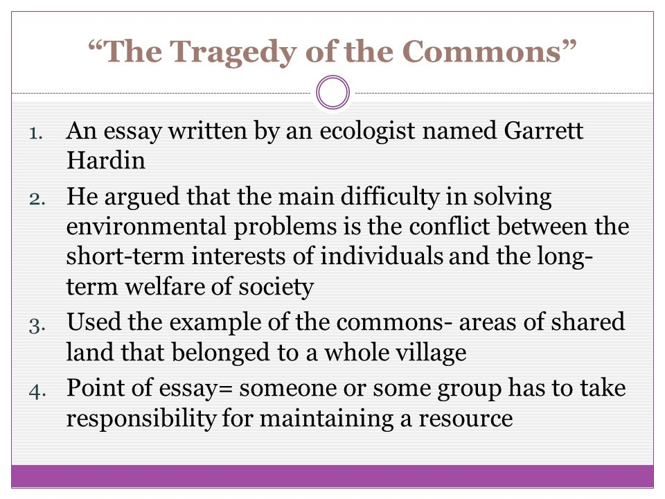 our island earth chapter section ppt video online  the tragedy of the commons