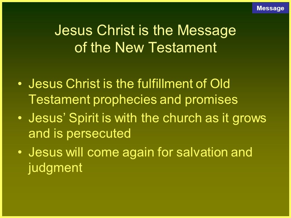 salvation new testament and christ For them god's plan of salvation unfolded with the israelites, then was added to  and redefined by christ that meant the new testament writers.