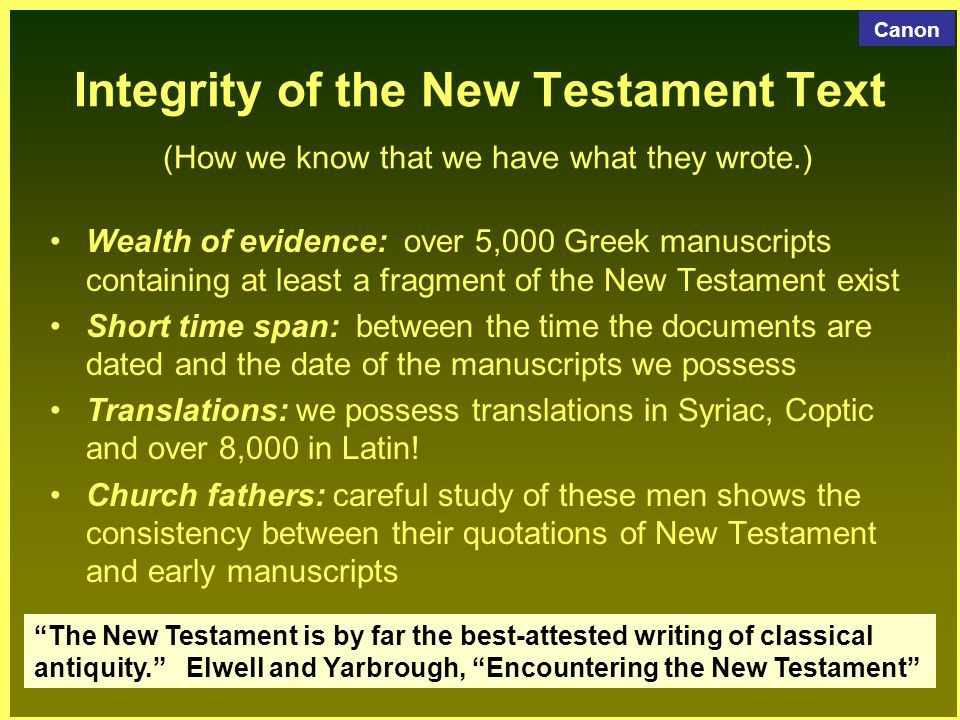 dating the new testament I was reading a book [pdf] that defends the translation reina-valera 1960 and the textus receptus (its base text for the new testament) one argument says that the version peshitta used as.