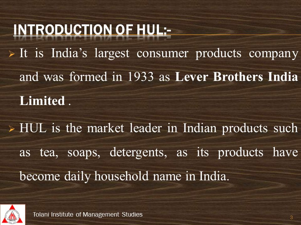 mis of hul Marketing mix of hul (hindustan unilever) analyses the brand/company which covers 4ps (product, price, place, promotion) hul marketing mix explains the business & marketing strategies of.
