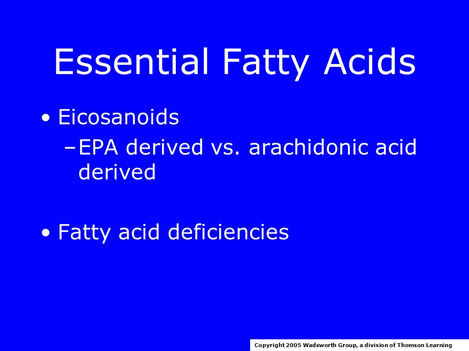 relationship between essential fatty acids and eicosanoids
