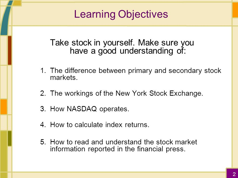A primary difference between stock options and stock index options is