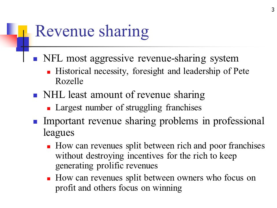 nfl revenue sharing Nfl fans everywhere love looking at each move their favorite teams make  in  both of these leagues the national television revenue is shared,.