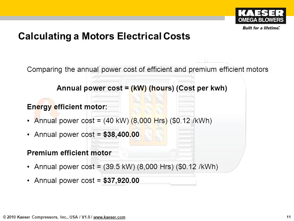 Designing efficient blower ppt download for Electric motor cost calculator