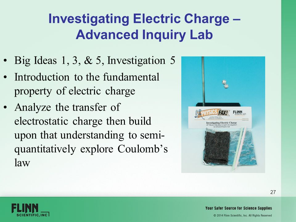 electric charge lab Summary:to demonstrate the separation of electric charge  rub a pvc rod  with a paper towel to get a negative charge place the charged.