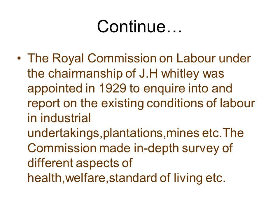Questionnaire about labour welfare