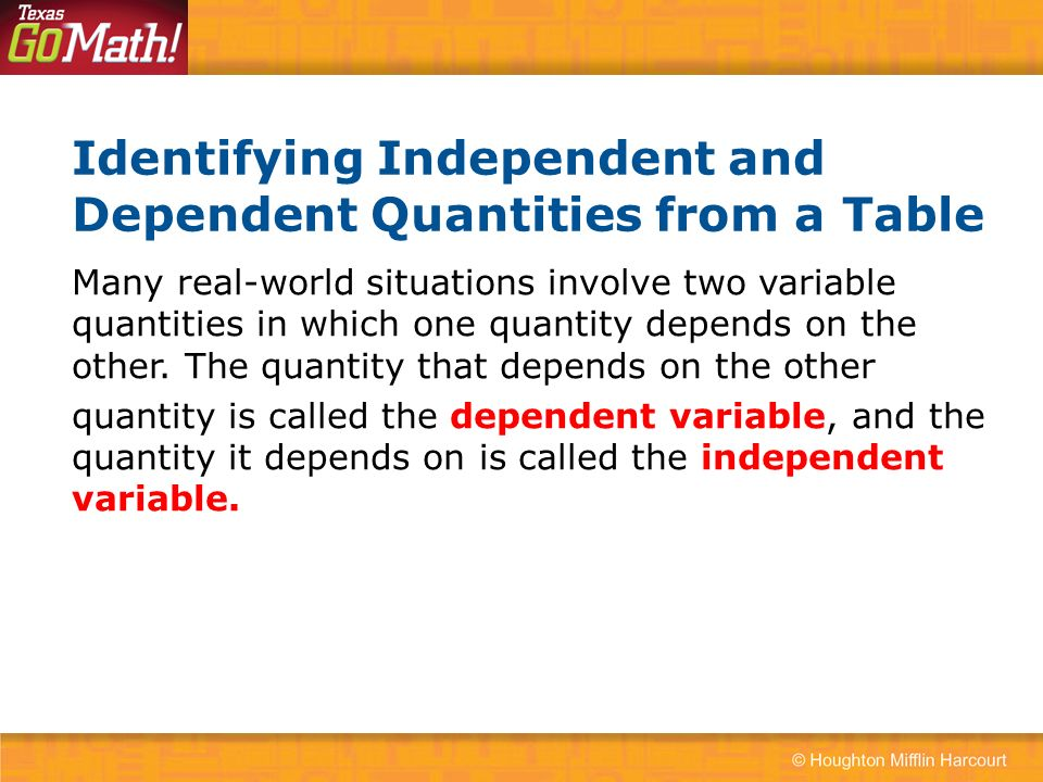 how to make a graph with independent and dependent variables