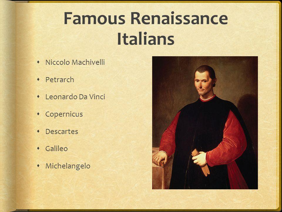 Famous Renaissance Italians