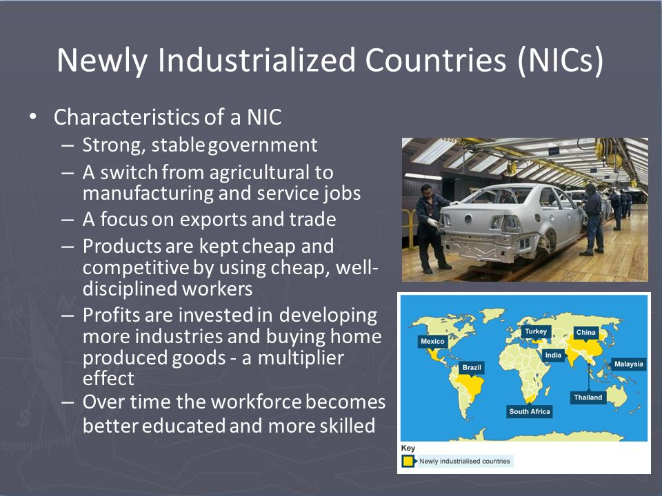 nics and ldcs characteristics and the Characteristics and institutions of  multiple-choice questions  which of the following countries are not newly industrialized countries (nics) a.