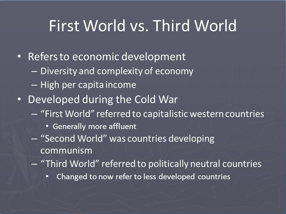 An introduction to the third world countries