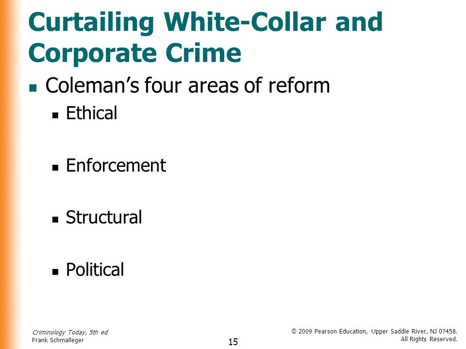white collar and political crimes