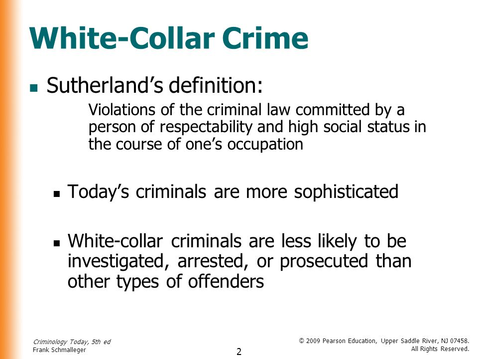 white collar crime social interaction