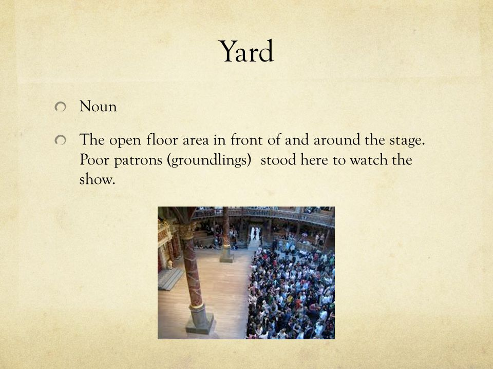 The globe theater and elizabethan theatre ppt video for Is floor a noun
