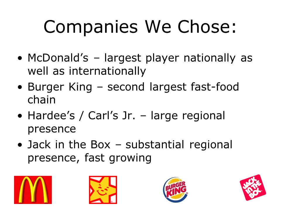 mcdonald s and burger king merger their disadvantages Could mcdonald's make mcdonald's corp to go the way of burger king by buying additional at technology or talent they could use to enhance their.