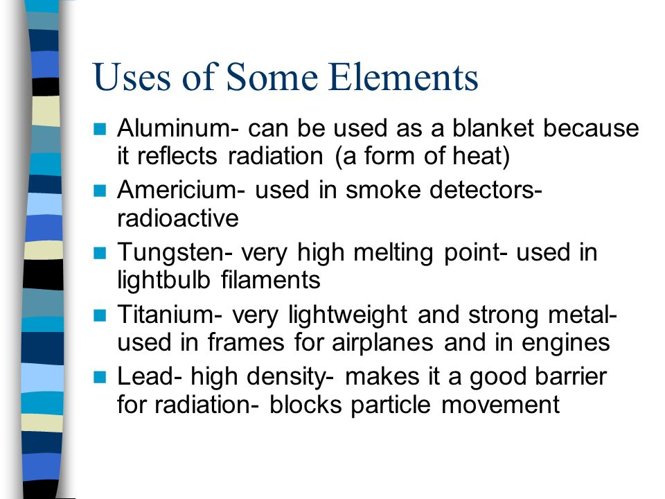 the good qualities of aluminium as an element The atomic mass is the number of portions and neutrons in an atom although all atoms of the same element have the same hydrogen makes a good fuel it, for example, powers the engines of space rockets when it is formed with these elements, aluminium becomes very valuable such.