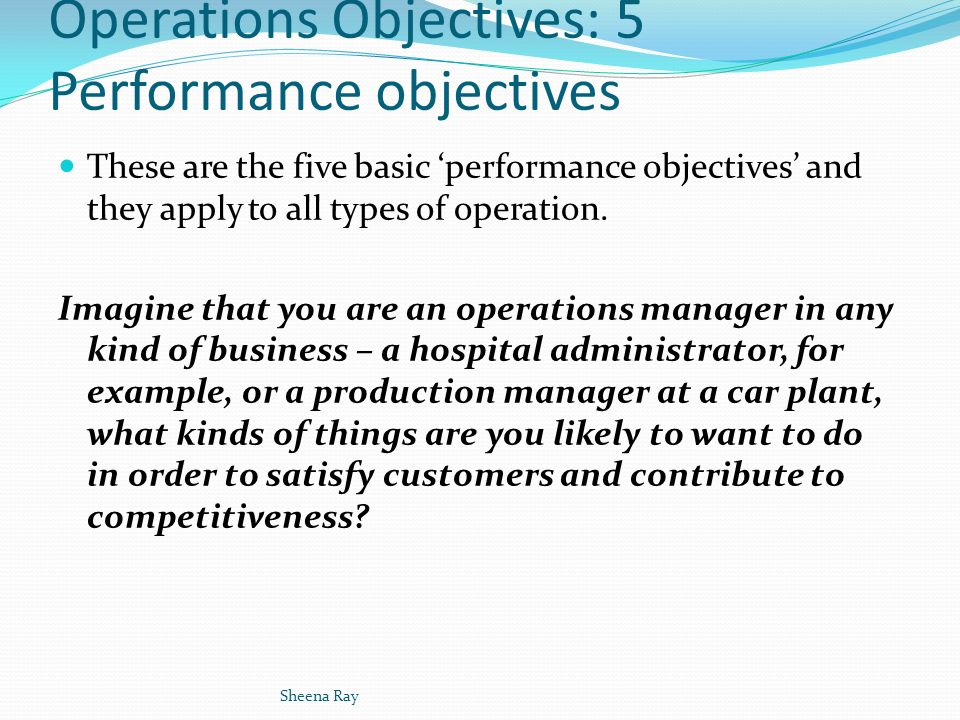 Famous Performance Objectives Templates Ideas  Example Business