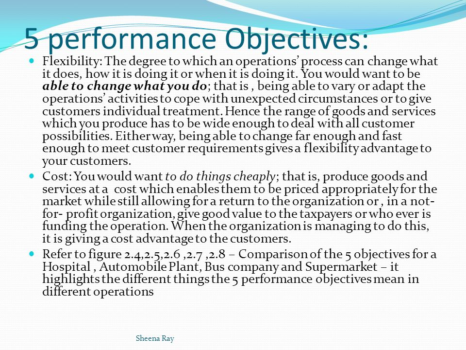 tesco 5 operation performance objectives Strategic planning at tesco plc, uk  4 strategic plan of tesco 5 strategic marketing objectives  tesco's operation will be started through small store which.