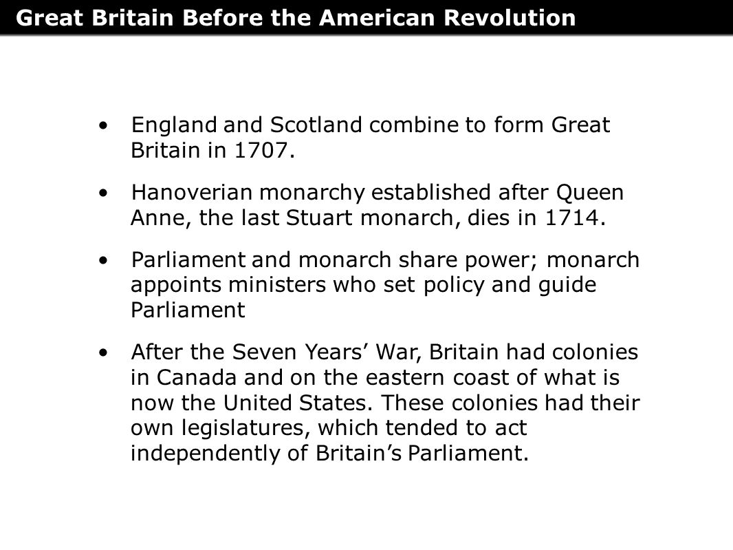 great britains failure to adjust snow balled the american revolution United states history and government tuesday state the reasons for the american revolution (4) right of the colonies to rebel against great britain (2.