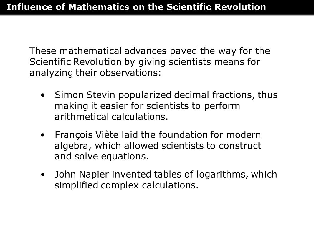 worksheet Scientific Revolution Worksheet chapter 8 the enlightenment and revolutions ppt download influence of mathematics on scientific revolution