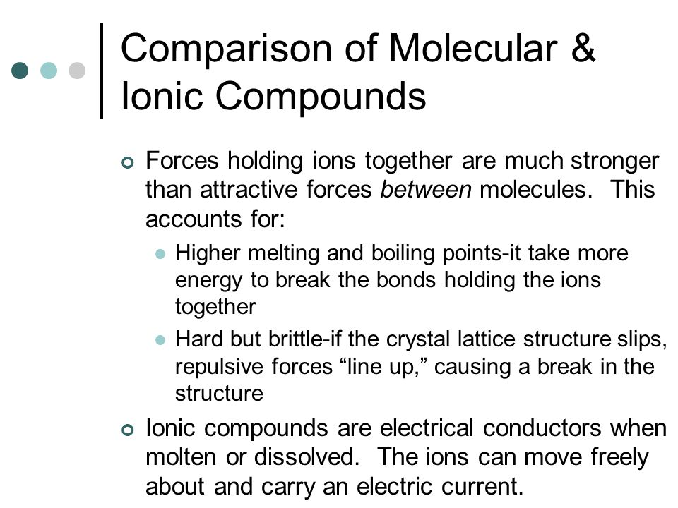 ionic and molecular compounds on line Description use simulation to observe properties of ionic and molecular compounds in conjunction with msds sheets this is meant to introduce ionic and covalent.