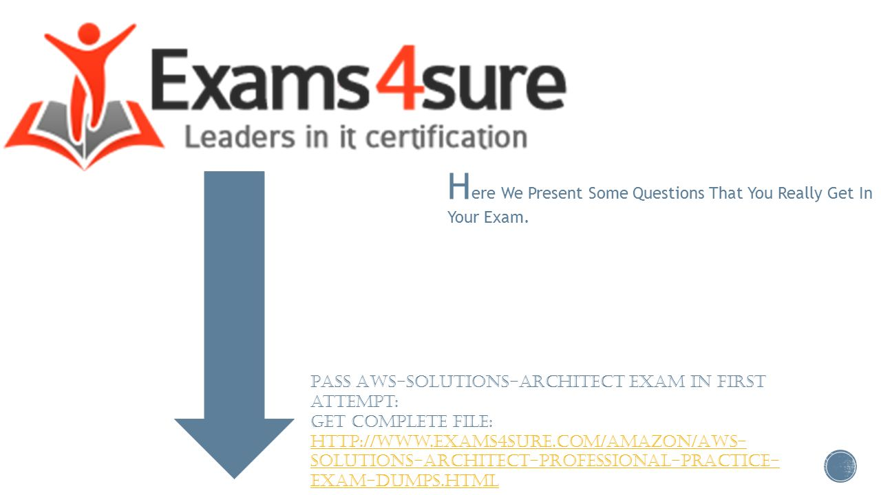 Aws solutions architect ppt video online download here we present some questions that you really get in your exam xflitez Gallery
