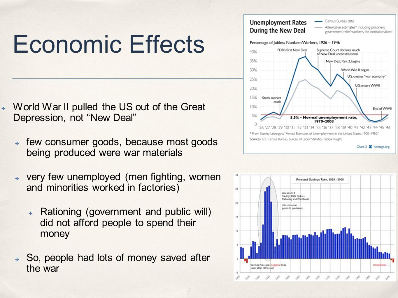 negative economic effects of world war 2 The long run effects of wwii destruction on german households  education and the negative impact of war  economic effects of the two world wars tended to.