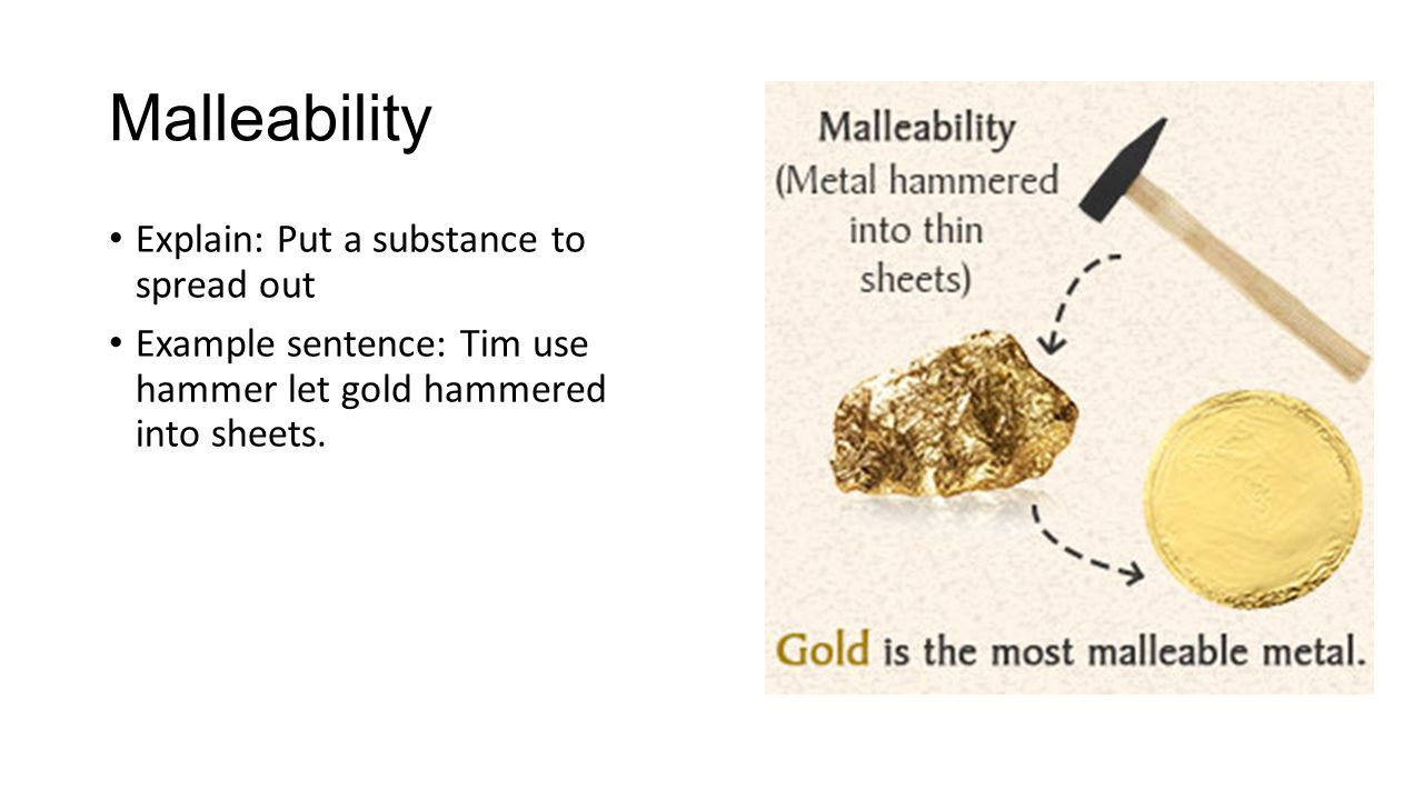 Gold Chemical Properties Cartoon