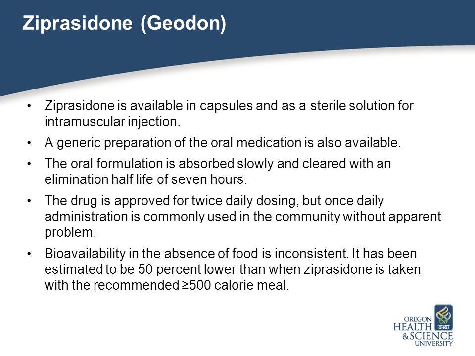 Geodon Food Interactions