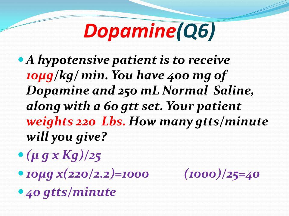 Dopamine 800 micrograms per ml