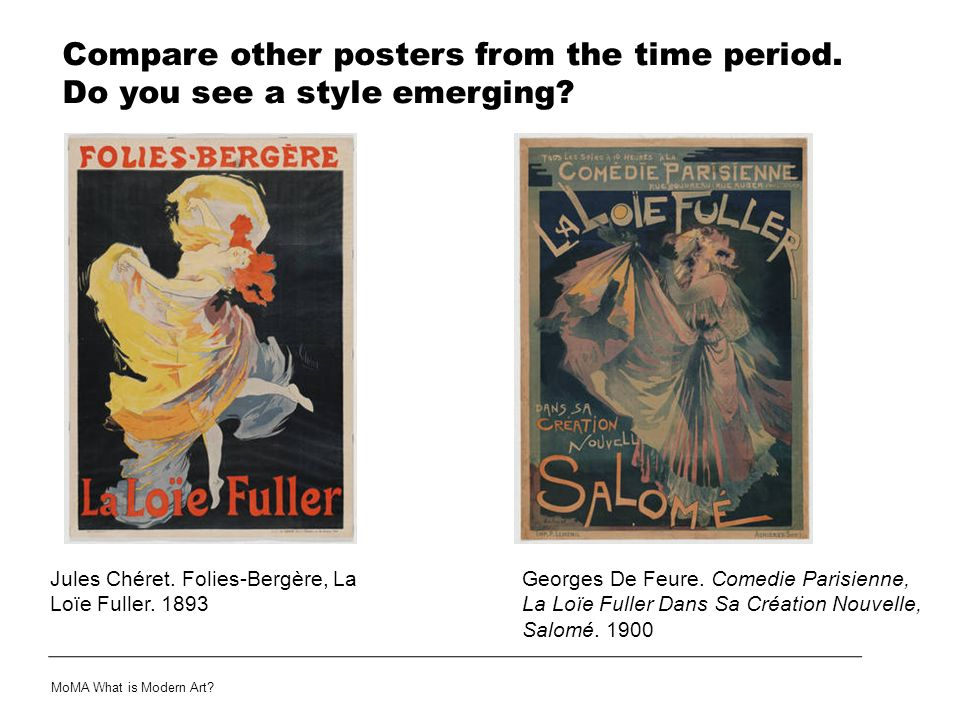 Compare other posters from the time period. Do you see a style emerging