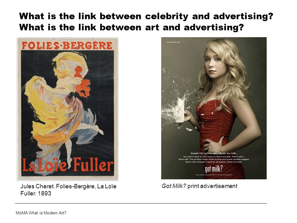 What is the link between celebrity and advertising