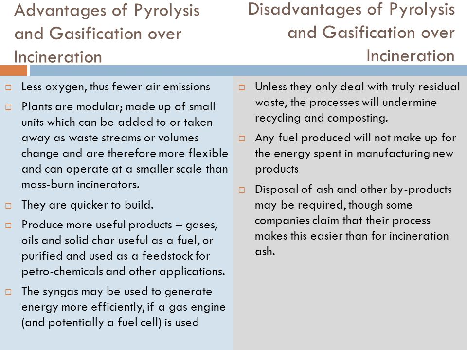 Incineration Gasification Pyrolysis Ppt Download